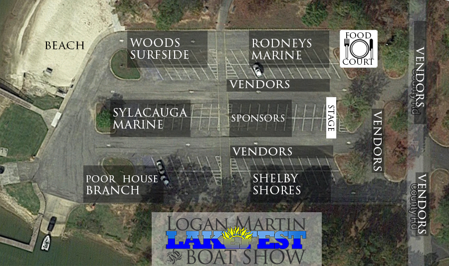 Logan Martin LakeFest 2016 Layout