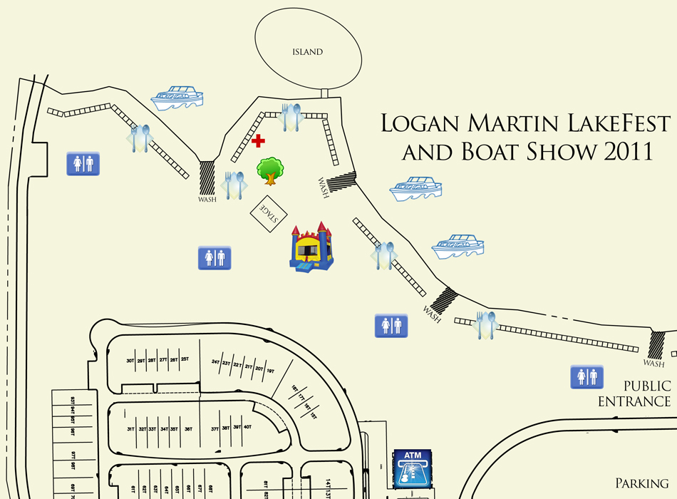 Callahan Eye Clinic >> Event Map | Logan Martin LakeFest and Boat Show